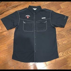Men's Columbia/Jim Beam PFG shirt- Size M